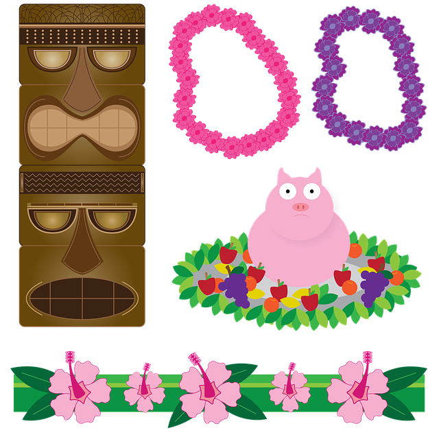 Free Illustration Luau Tikis Hawaiian Aloha Free