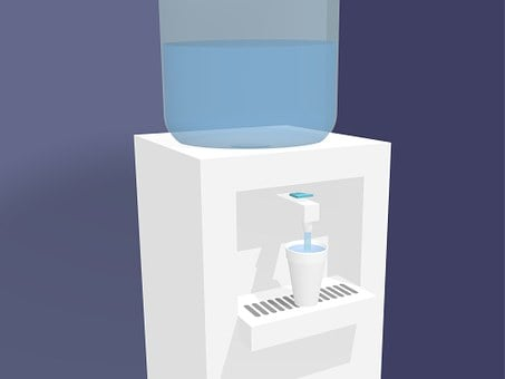 Water Cooler, Work, Water, Bottle