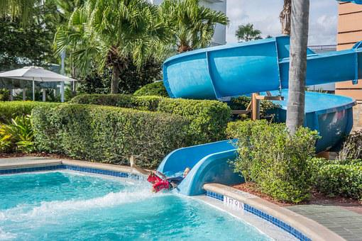 Pool, Water Slide, Child, Summer, Park