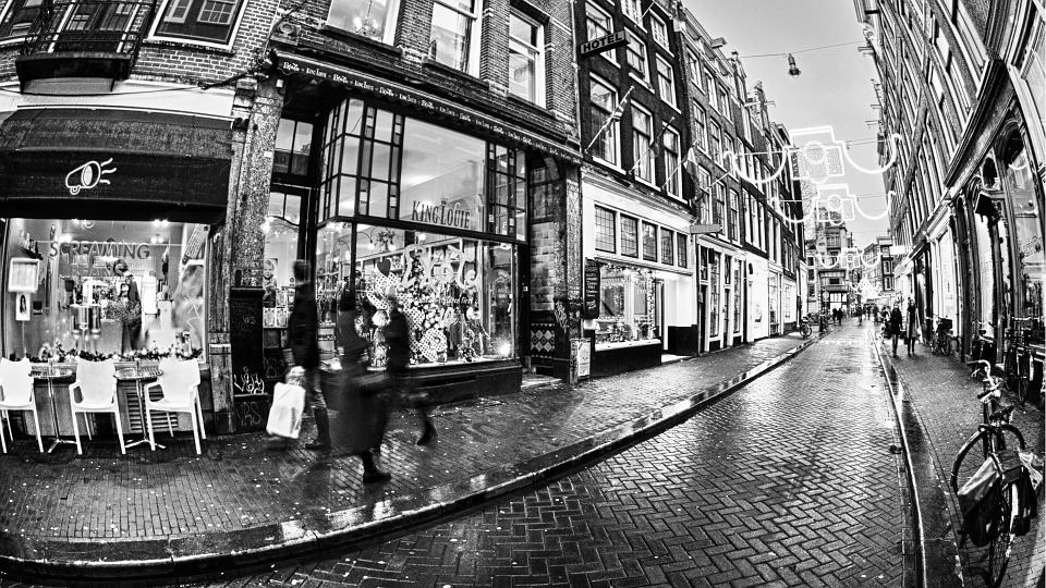Vintage Background Travel Amsterdam Street Movement