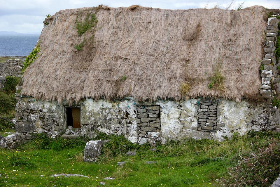 Thatched Roof, Ireland, Irish, Cottage, Thatched, Roof