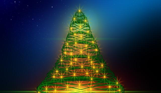 kostenlose illustration grusskarte christbaum