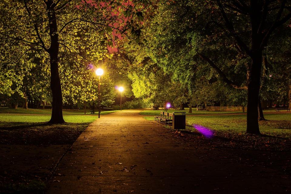 Free Photo Night Park City Park Dark Free Image On