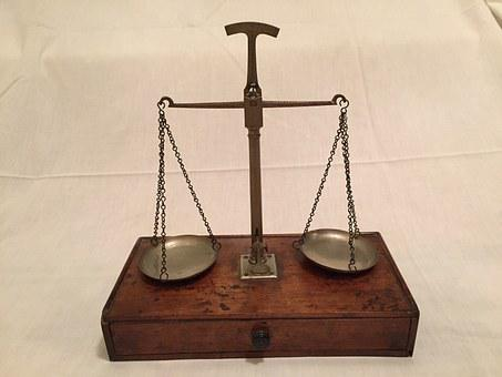 Scales Of Justice Weigh In Antique Sc