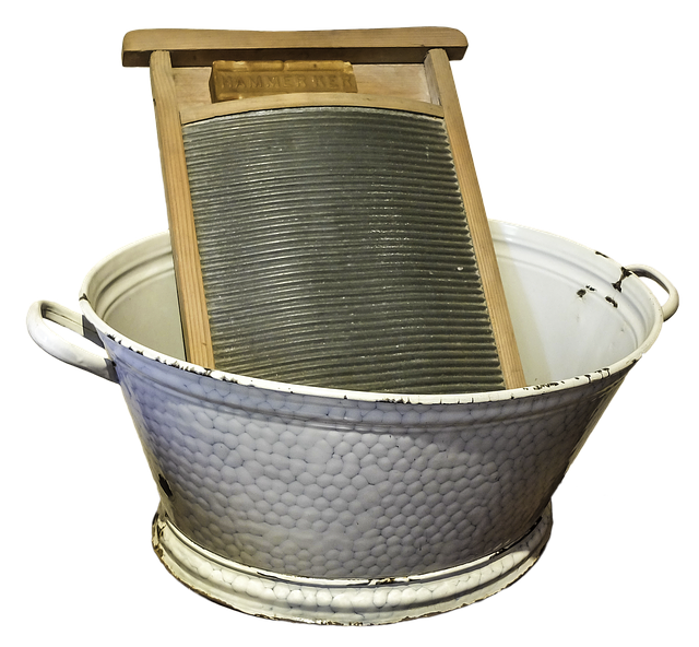 Washing Tubs From The Past ~ Free photo washboard wash tub old formerly