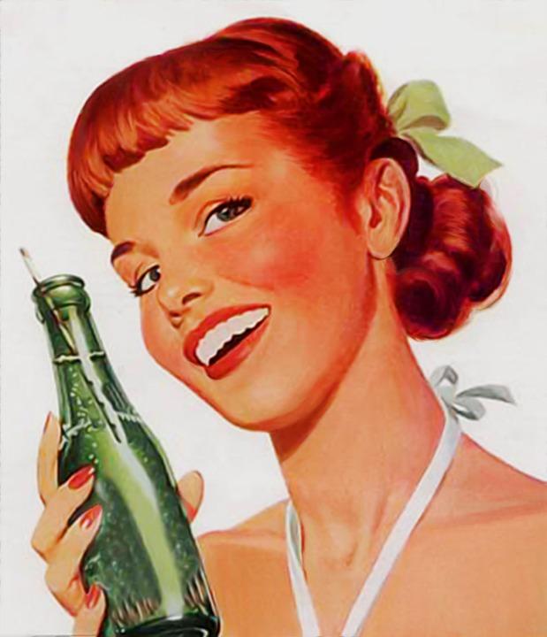 Det finnes ikke så mange annonser som denne med Coca Cola jenta lenger.