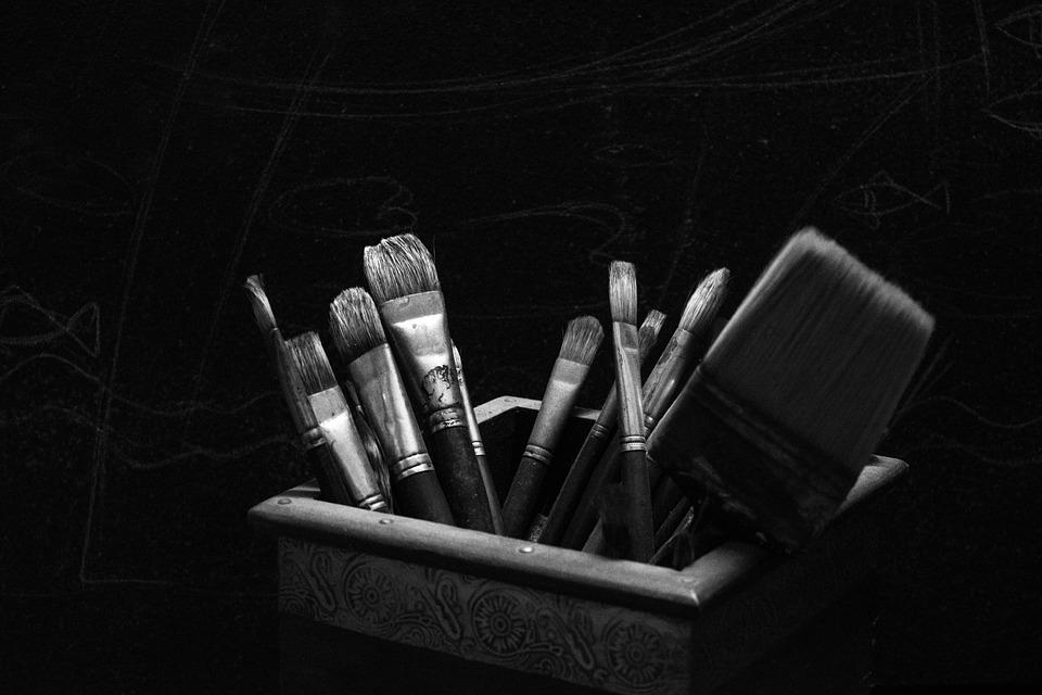 free photo artist brush dark light artistic free image on