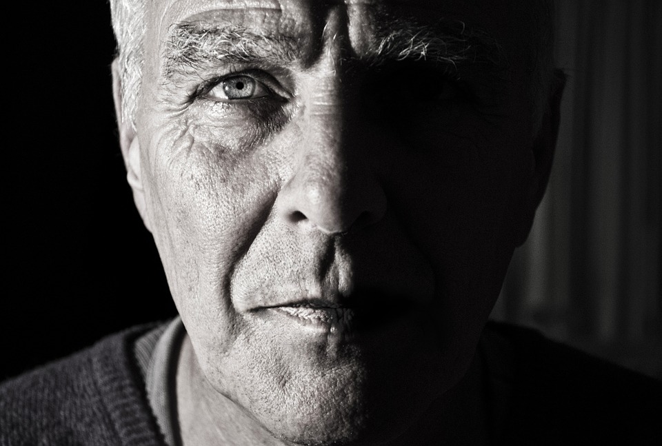 Face, Portrait, Man, Elderly, Determined, Character