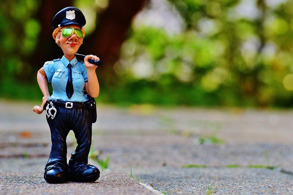 Politieagente, Grappig, Figuur, Politie