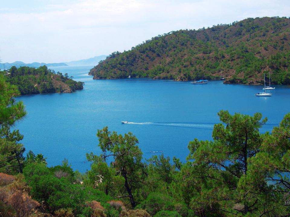 Marmaris, Deniz, Mavi, Yat, Yeşil, Huzur, Doğa, Orman