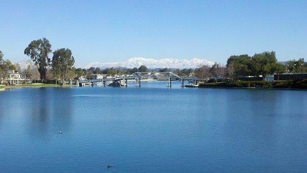 Lake, Orange County, Water, Sky, Scenic