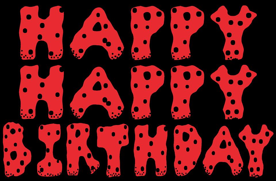 Happy Birthday Ladybug Polka Dots