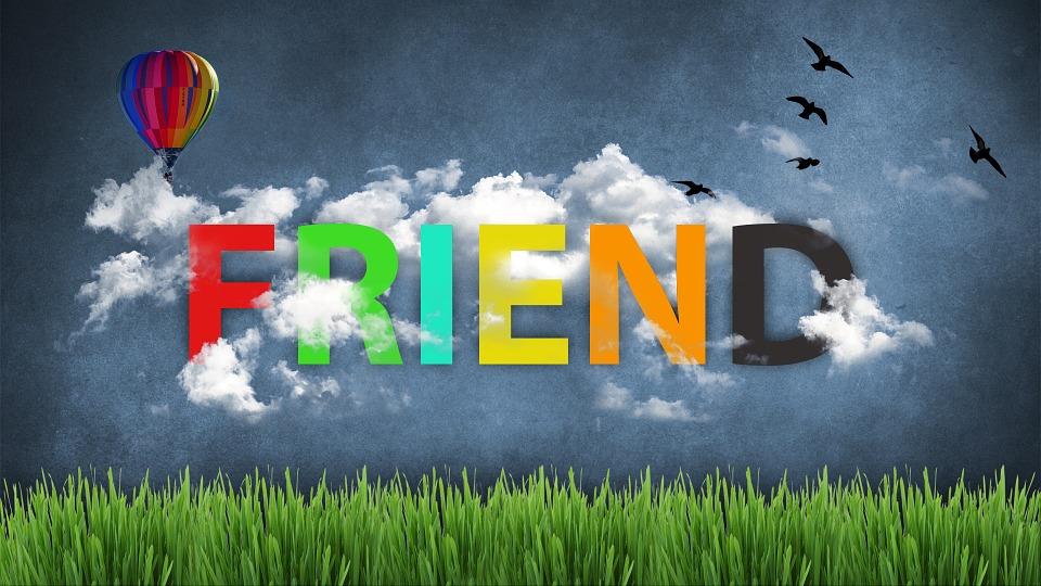 友人, 雲, ホット気球, フォント, 壁紙, 草, 鳥, 友情, 思考