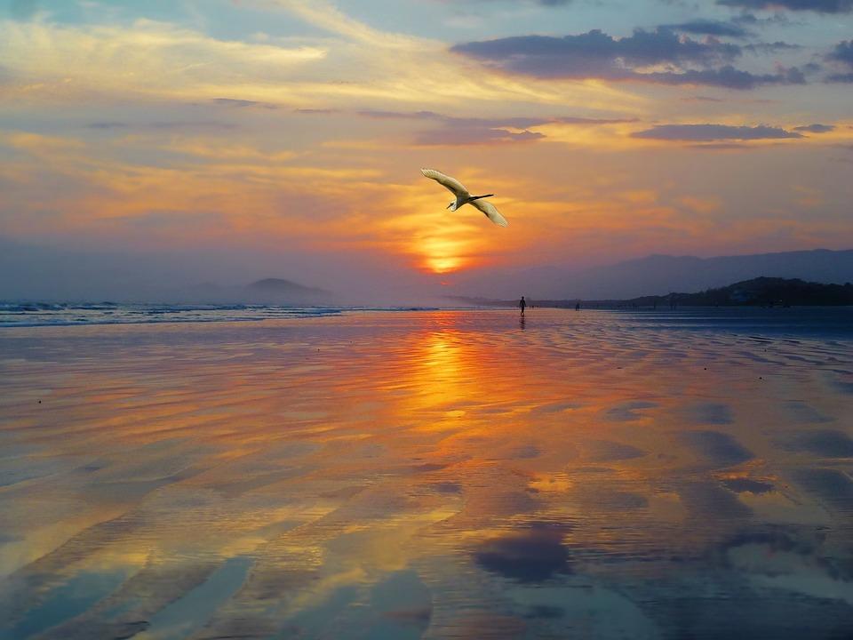 Poente Por Do Sol Foto Gratuita No Pixabay