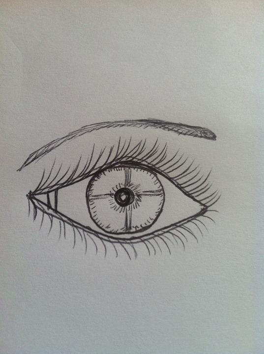 Line Drawing Eye : Free illustration hand drawn eye eyebrow image
