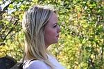 woman, thinking, profile