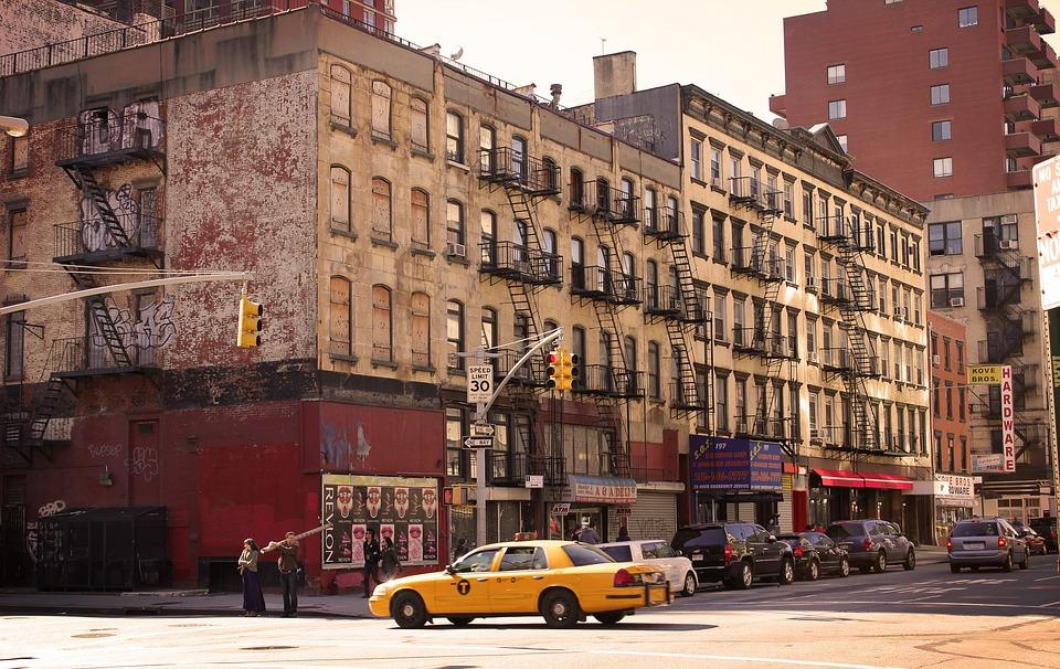 New York, Ny, Taxi, Città, Stati Uniti, Manhattan