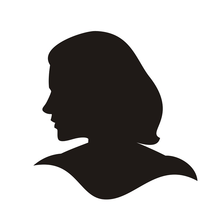 silhouette head cameo woman black face female