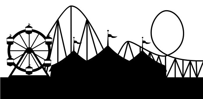 Fair Tent Park Circus Fun Fairground Sale  sc 1 st  Pixabay : black and white circus tent - memphite.com