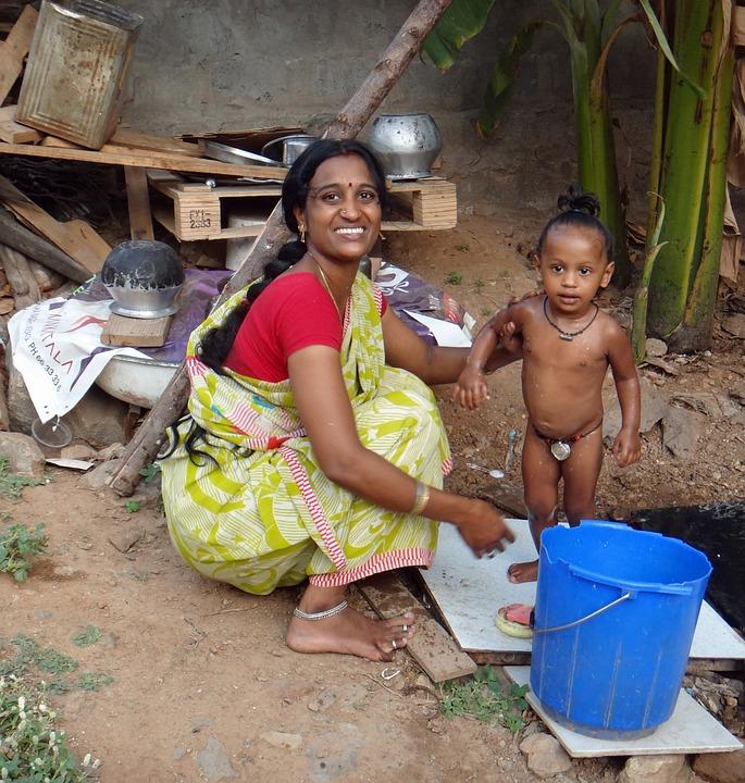 Indien Sommer Mutter