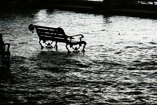 Flood, Seat, Chair, Bench, Water