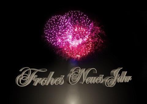 Fyrverkeri, Rakett, New Year'S Day
