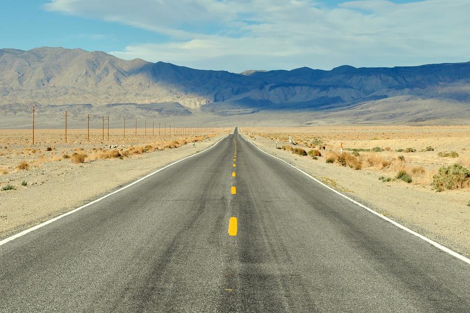 道路, 死の谷, アメリカ, 砂漠