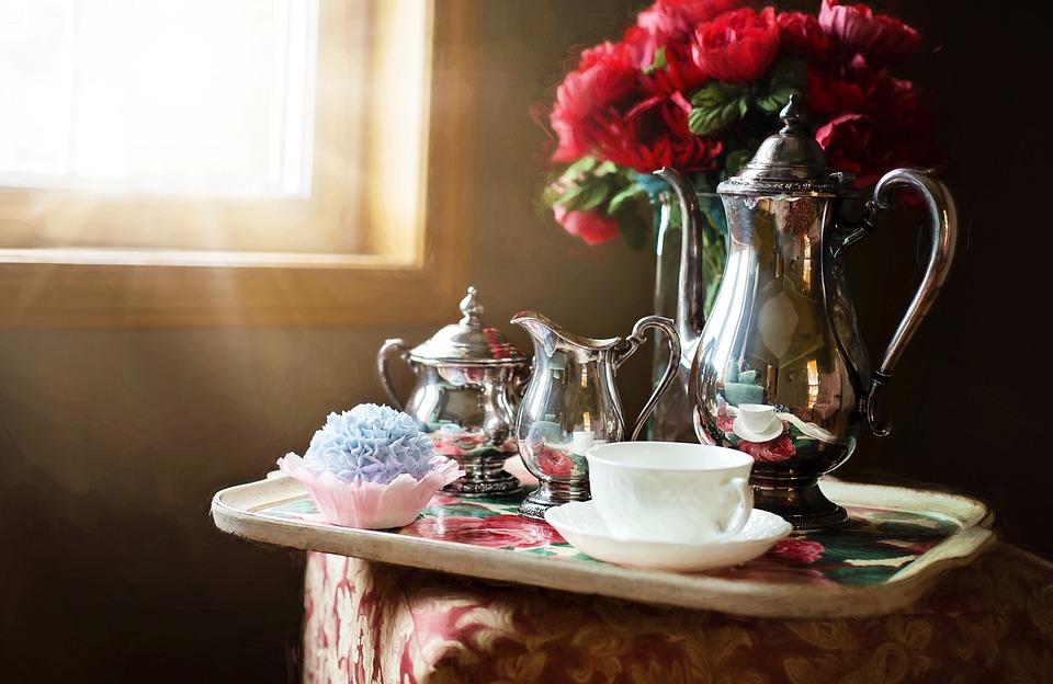 silver tea set silver teapot tea set traditional & Silver Tea Set Teapot · Free photo on Pixabay