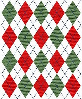 Rot, Grün, Weiß, Argyle, Marine, Thread