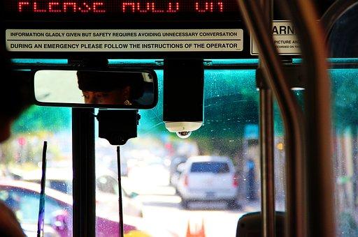 Bus, Städtischen, Straße, Transport