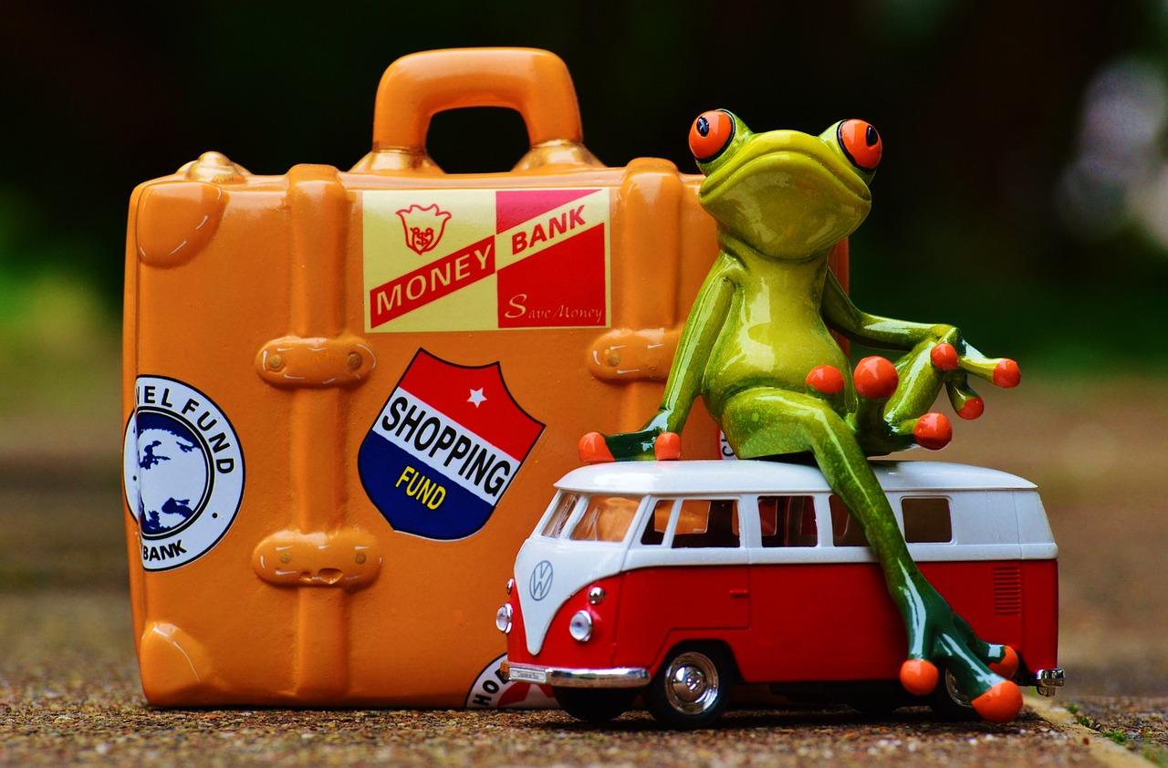 Открытка с лягушкой путешественницей