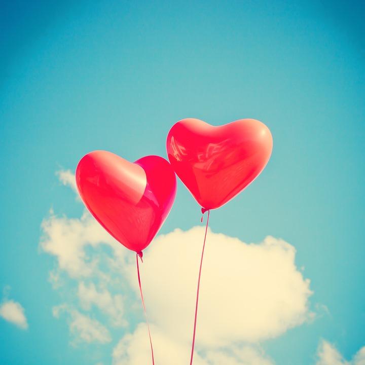 Palloncino, Cuore, Amore, Red, Romantico, Felice, Carta