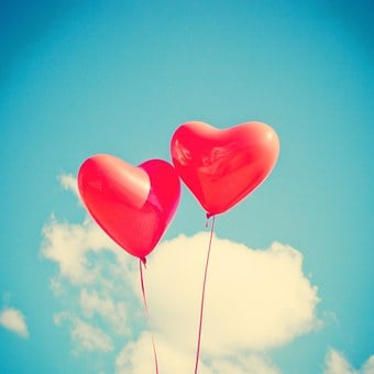 Balloon, Heart, Love, Red, Romantic