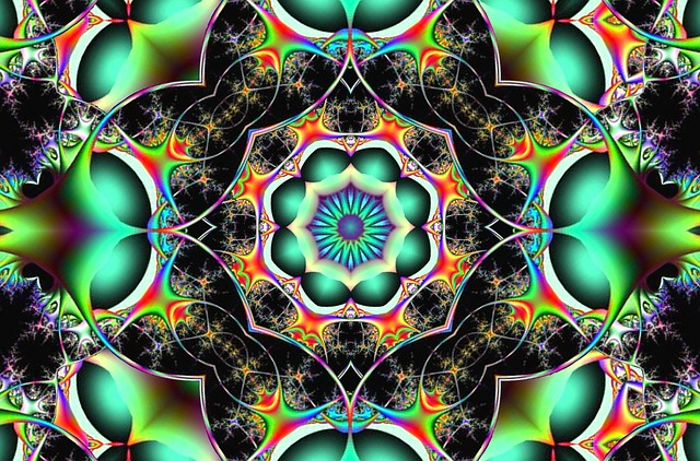 free illustration fractal chaos symmetry free image