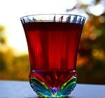 shot glass, colored glass