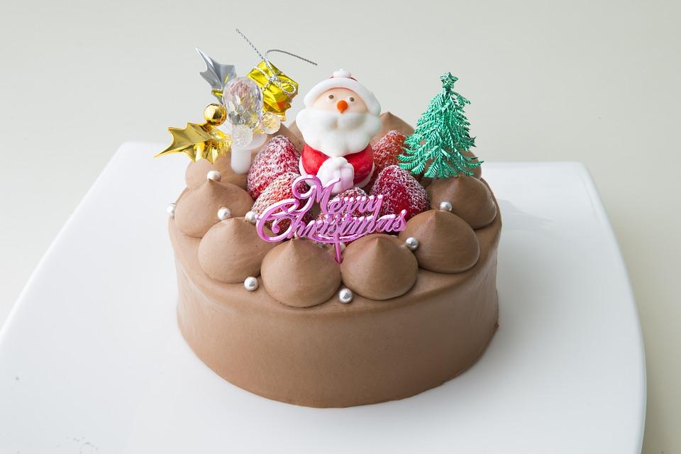 Christmas Cake, Choco, Suites, Santa Claus, Cake