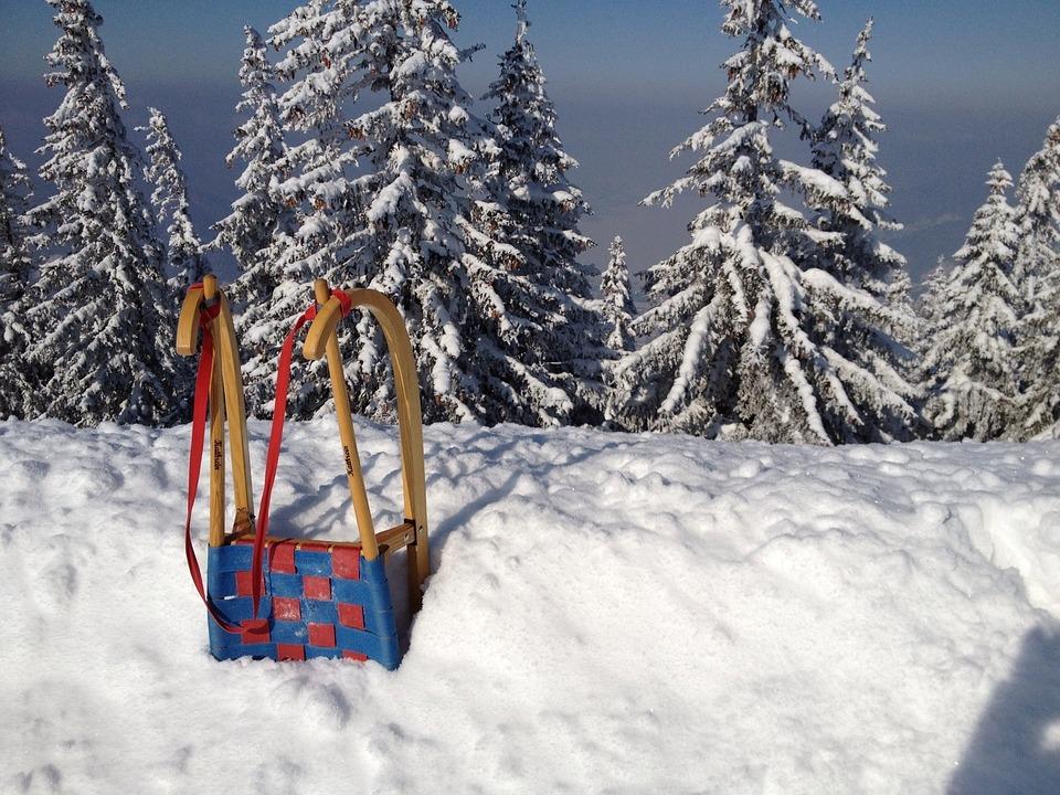 Zima, Tor Saneczkowy, Śnieg, Białe Na Zewnątrz