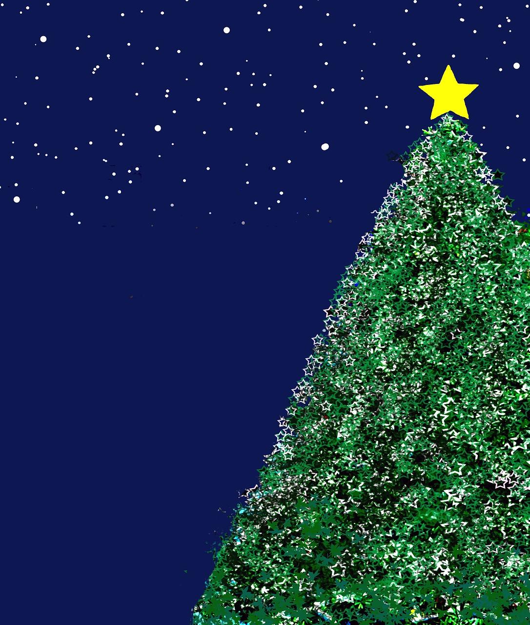 результате открытка елка со звездой дальние