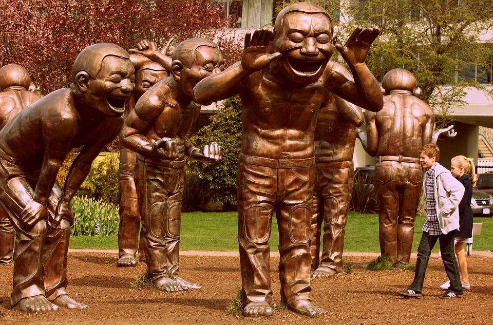 Śmiech, Pomnik, Rzeźba, Laughing, Szczęśliwy, Uśmiech