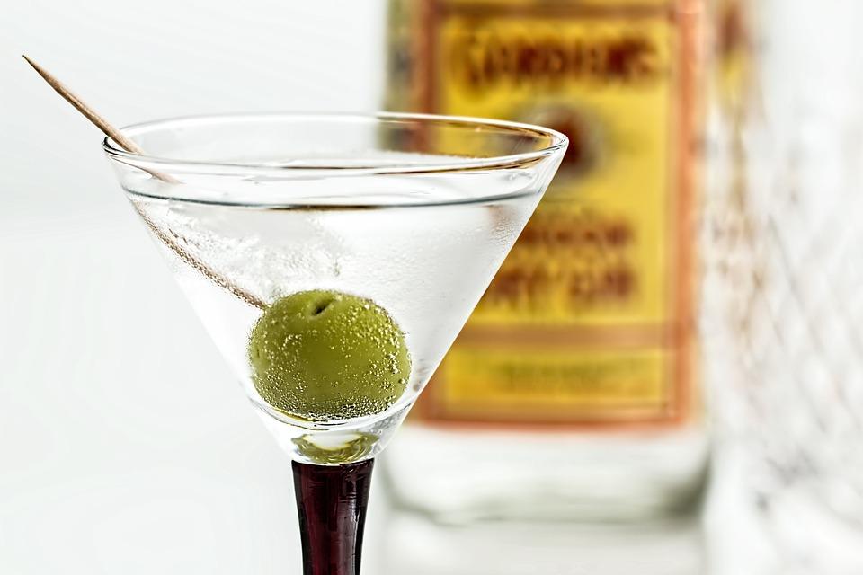 martini in a glass
