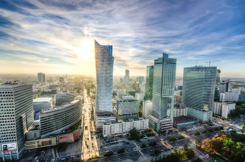 Варшава, Горизонт, Городской Пейзаж, Архитектуры