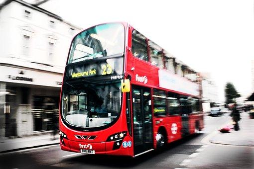 Londres, Autobus, Rojo, Ciudades