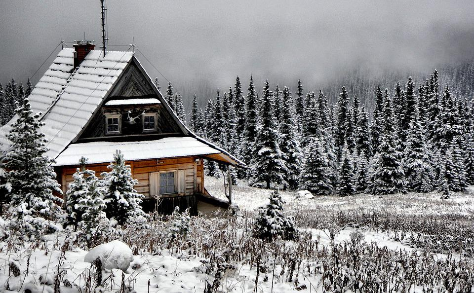 Free Photo Winter Cabin House Mountain Free Image On