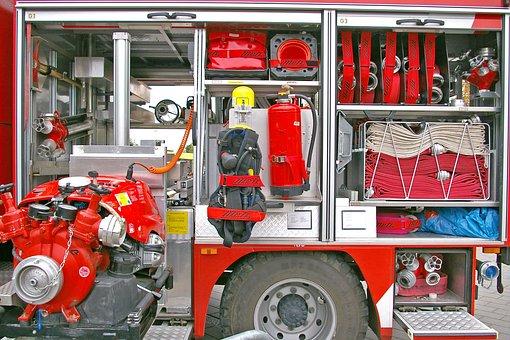 Fire, Firefighters, Fire Truck