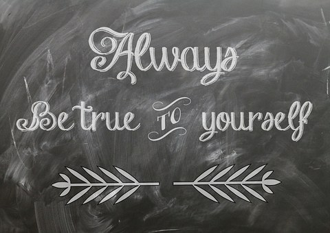 Always be true to yourself written on a blackboard for 301 inspirational and motivational quotes