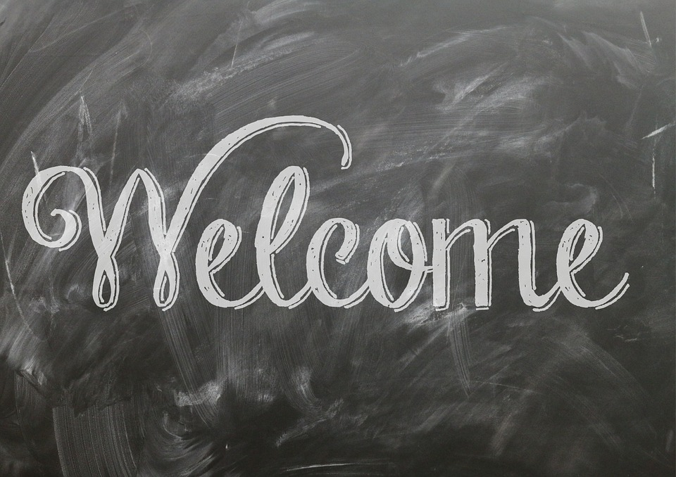 Welcome Quote Sign Poster Blackboard Chalkboard