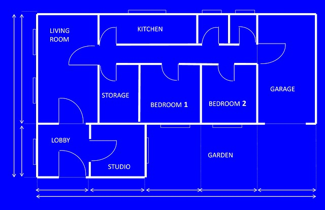 Free Illustration Blueprint House Architecture Free