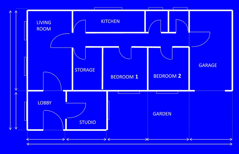 Free illustration blueprint house architecture free for House blueprint images