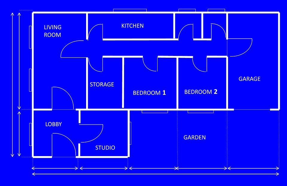 Free illustration blueprint house architecture free for Architecture design blueprint