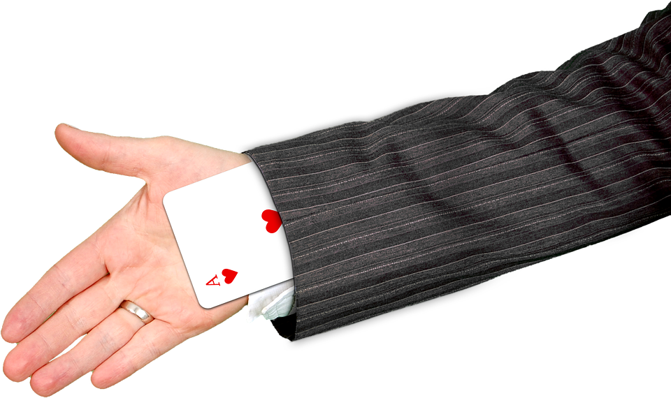 Hand, Playing Card, Ace, Heart, Magic, Trick, Surprise